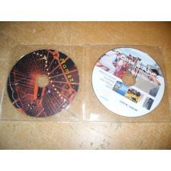 Pochette plastique double pour deux CD